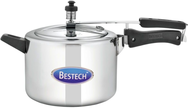 Bestech Mirror Finish Regular Inner Lid 5 L Pressure Cooker with Induction Bottom(Aluminium)