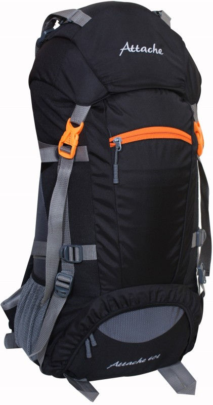Attache Rucksack, Hiking Backpack 75Lts (Black) Rucksack - 60 L(Black)