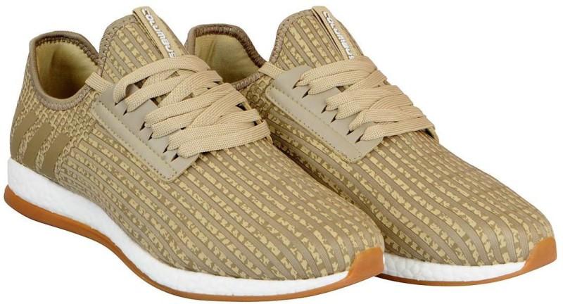 Columbus Mens Running Shoes For Men(Beige)