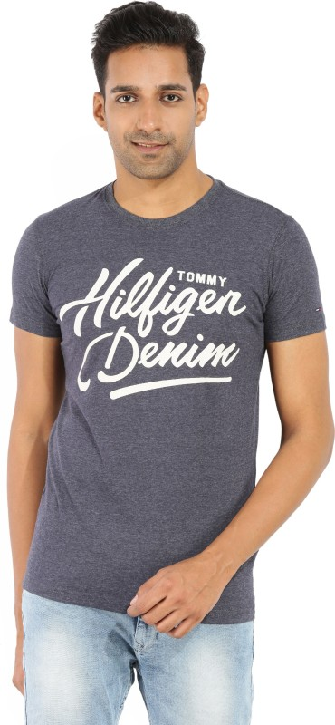 Tommy Hilfiger Printed Mens Round Neck Light Blue, Light Green T-Shirt(Pack of 6800084060)