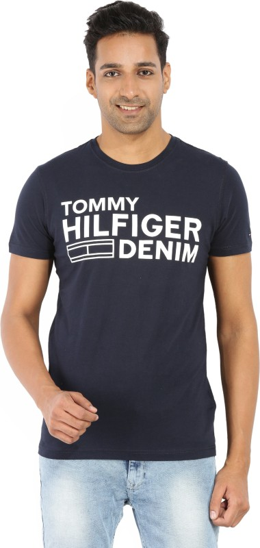 Tommy Hilfiger Printed Mens Round Neck Light Blue, Light Green T-Shirt(Pack of 6800087117)
