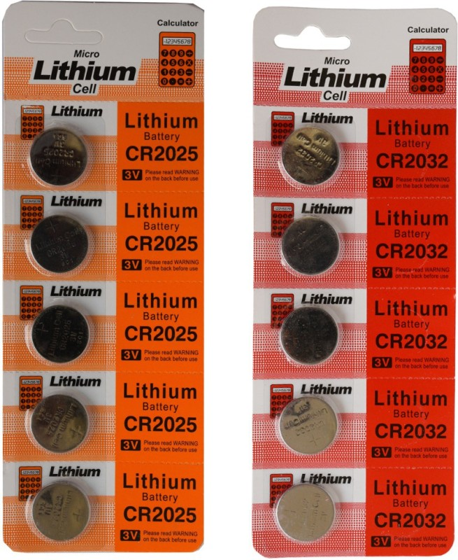 CREATOR Micro Lithium CR2032 3V-CR2025 3V (Pack Of Combo) 10-piece Watch Repair Kit