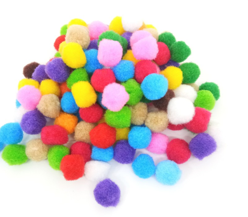 Aadya Crafts Multi Color Pom Pom 1.5cm