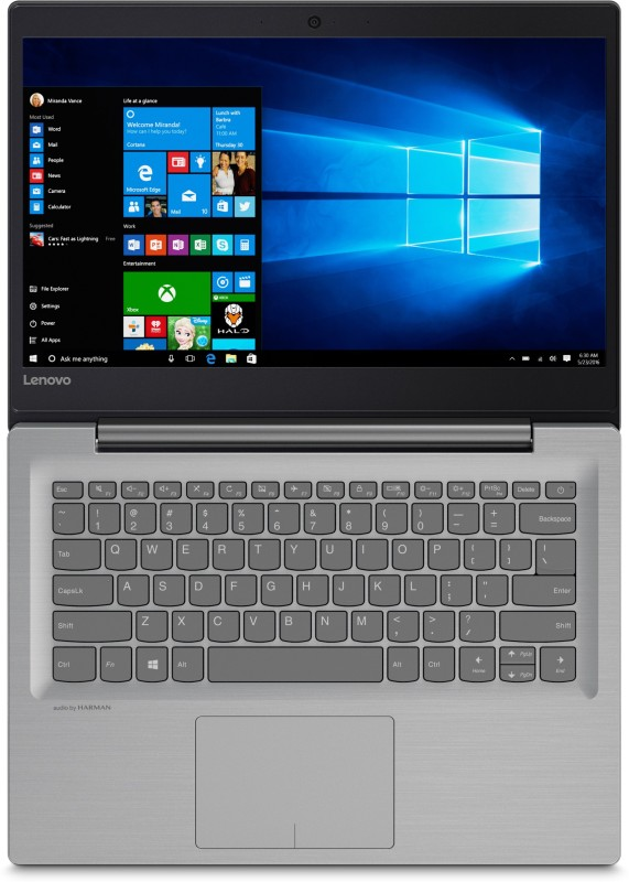 Lenovo Ideapad Core i5 7th Gen - (8 GB/1 TB HDD/Windows 10 Home/2 GB Graphics) IP 320S-14IKB Laptop(14 inch, Mineral Grey, 1.69 kg, With MS Office) image