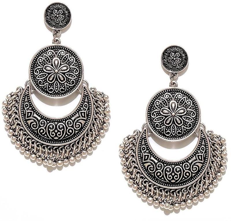 You Bella Stylish Fancy Party Wear Jewellery Alloy Dangle Earring