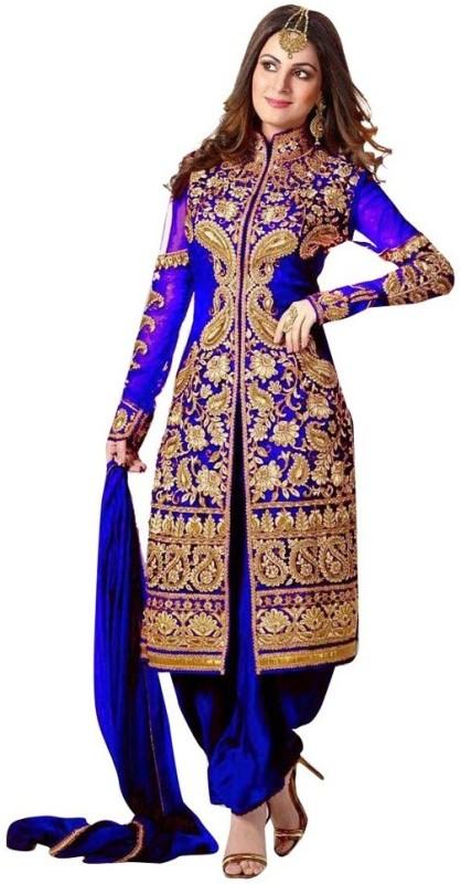 Bollywood Designer Georgette Self Design Semi-stitched Salwar Suit Dupatta Material