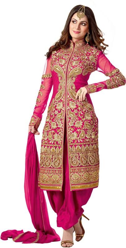 Bollywood Designer Embellished, Embroidered Kurta & Salwar(Stitched)