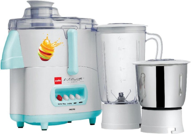 Cello JMG 100 500 W Juicer Mixer Grinder(Blue, White, 2 Jars)