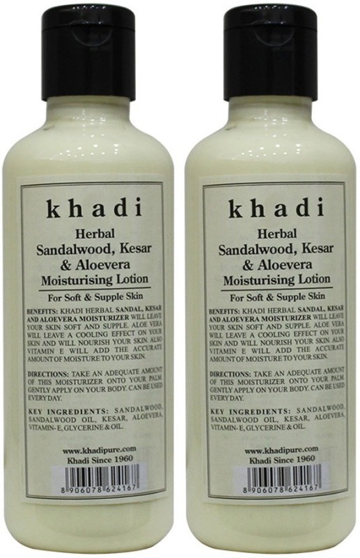 Khadi Herbal Sandalwood, Kesar & Aloevera Moisturising Lotion(420 ml)