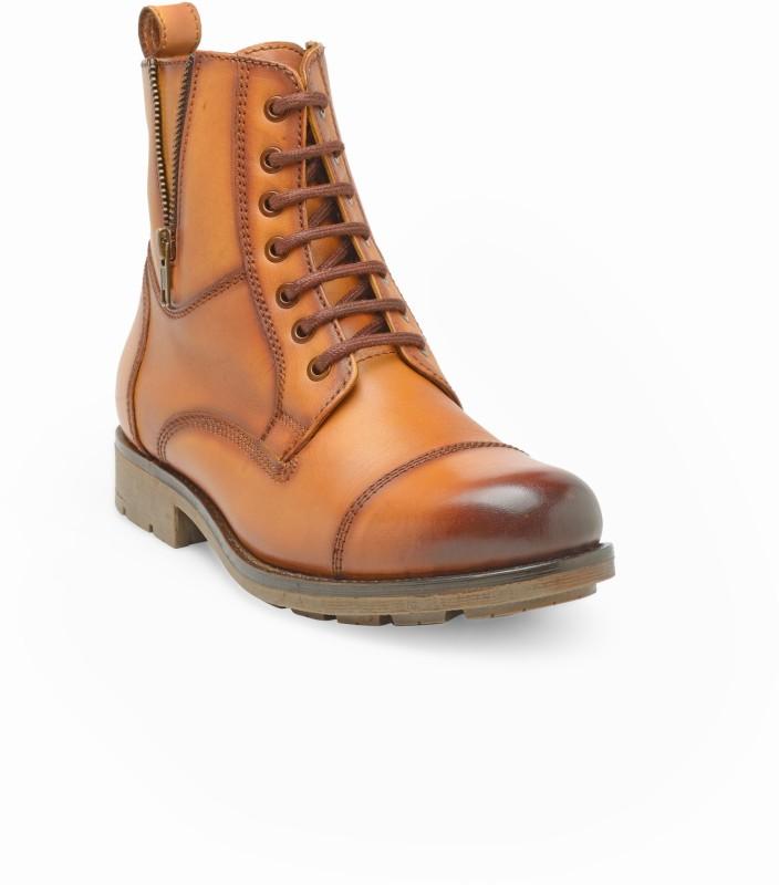 Teakwood Teakwood Leather Boots For Men(Tan)