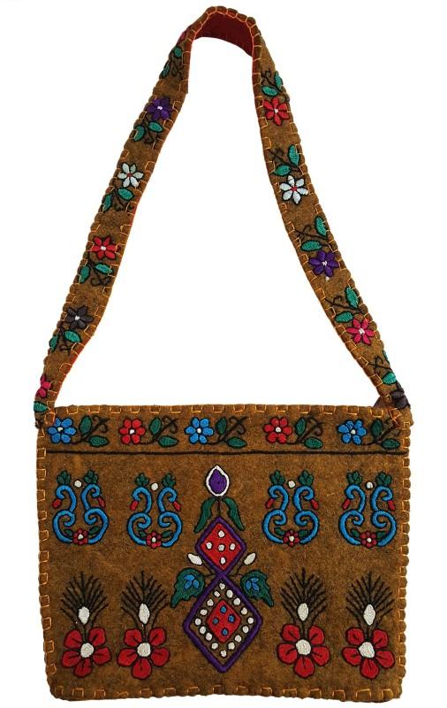 Mehrunnisa Brown Shoulder Bag
