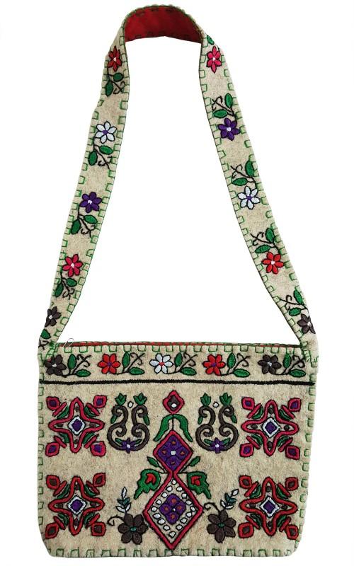 Mehrunnisa White Shoulder Bag