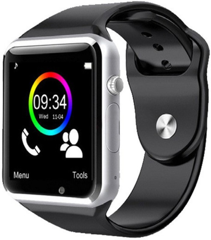 Medulla A1 phone Silver Smartwatch(Black Strap Regular)