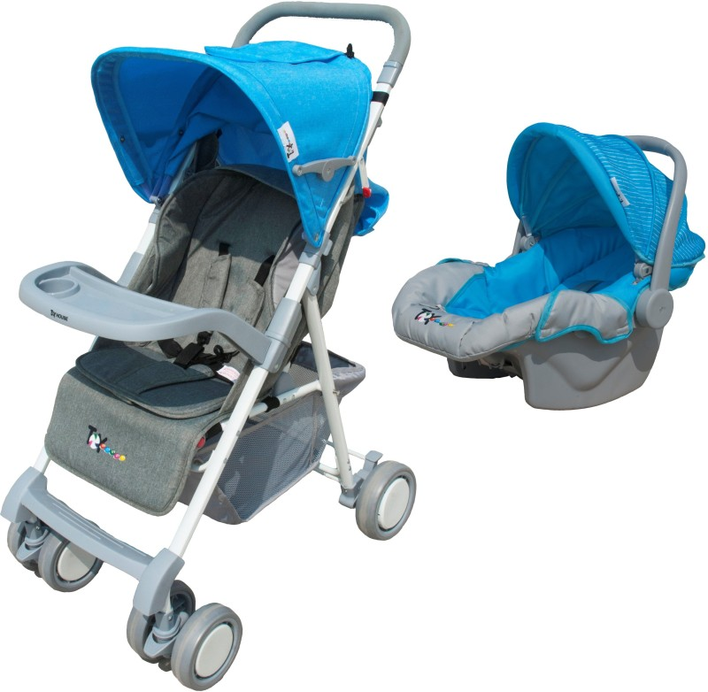 Toy House Stroller with Car Seat Combo, Blue(3, Blue)