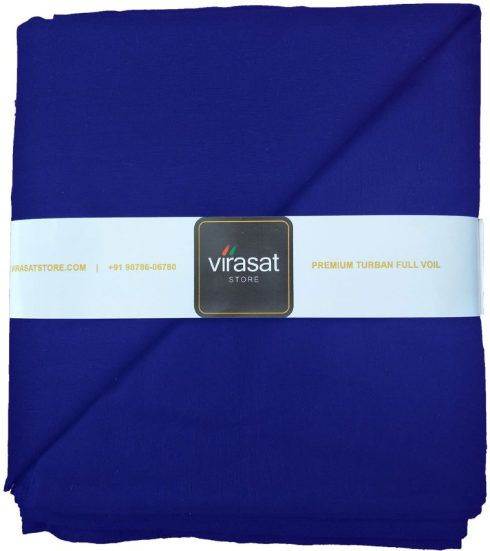 Virasat Store 5 Meter Royal Blue Solid Dastar