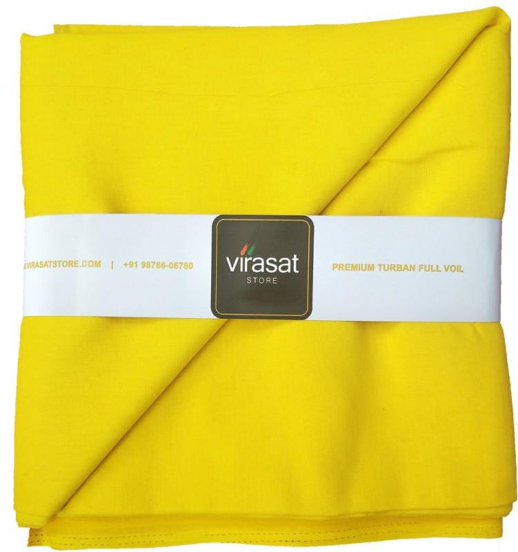 Virasat Store 5 Meter Yellow Solid Dastar