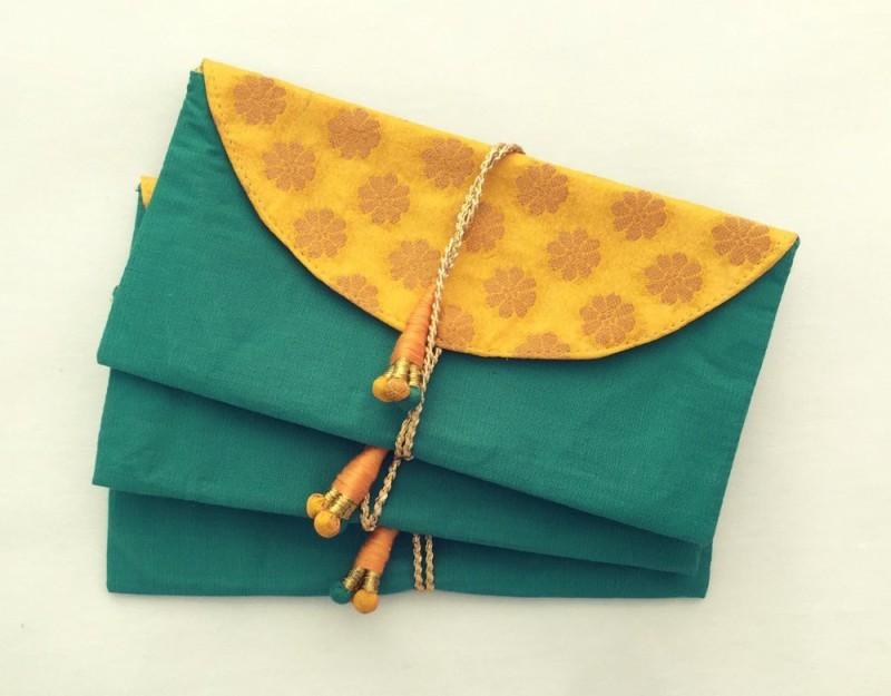 Kolorfish Handmade Money Envelopes Dark Green (Pack of 3) Envelopes(Pack of 3 Green)
