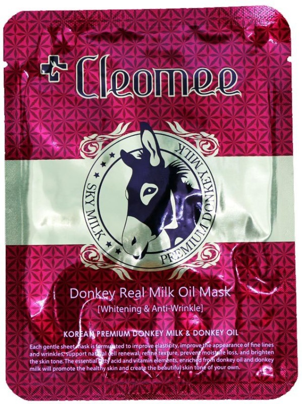 Cleomee New Donkey Real Milk Oil Mask 5sheet Face Shaping Mask