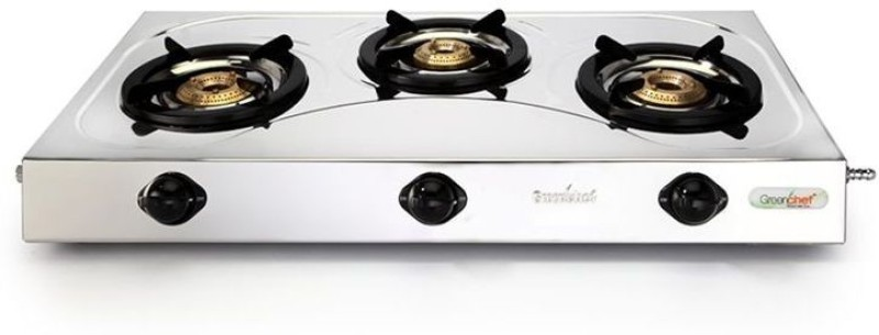 Greenchef Stainless Steel Manual Gas Stove(3 Burners)