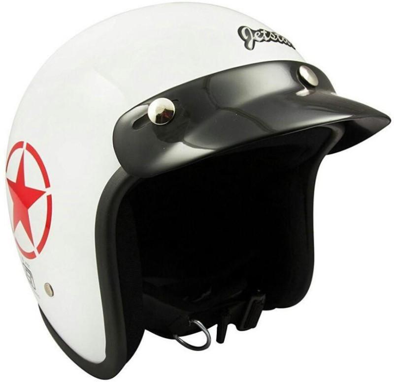 MOTOFLY Jetstar Cruiser (ISI Certified) Motorbike Helmet(White)
