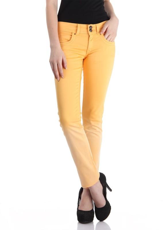Pepe Jeans Slim Women Yellow Jeans