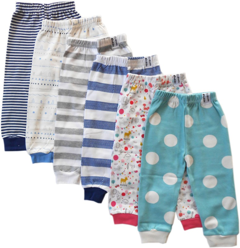 NammaBaby Track Pant For Boys & Girls(Multicolor Pack of 6)