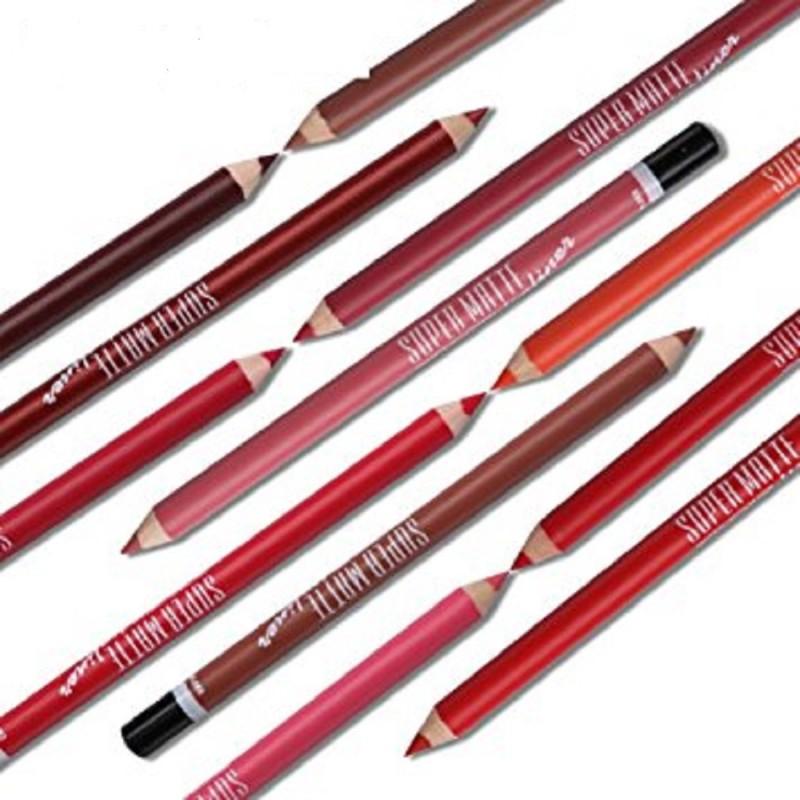 MN Me Now Super Matte Lip Liner Pencil (Set of 12)(NA)