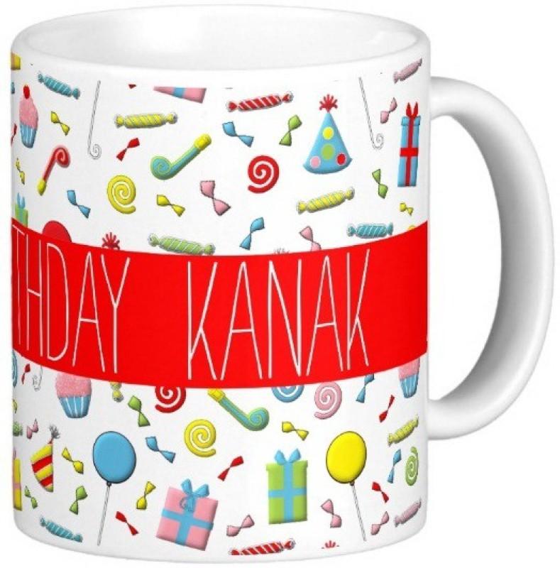 GNS Happy Birthday KANAK Ceramic Mug(325 ml)
