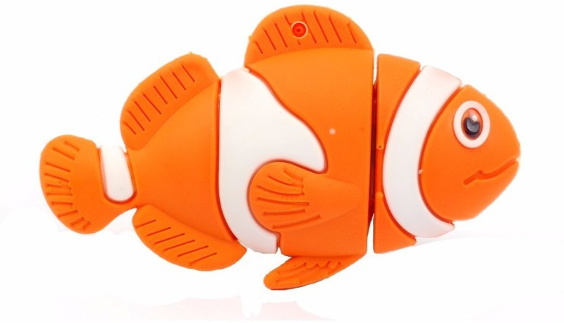 Microware Fish Shape 16 GB Pendrive 16 GB Pen Drive(Orange, Maroon)