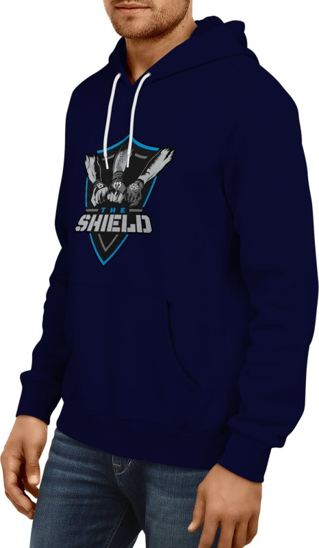 Wwe Shield Sweatshirt Hoodie For Men Round Neck Printed Men Pullover