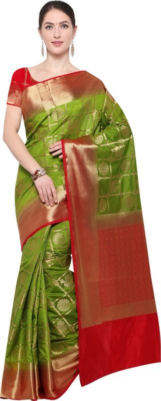 Ratnavati Woven Kanjivaram Silk Saree(Green)