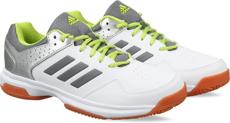 ADIDAS QUICK FORCE IND Badminton Shoes For Men(White, Grey)