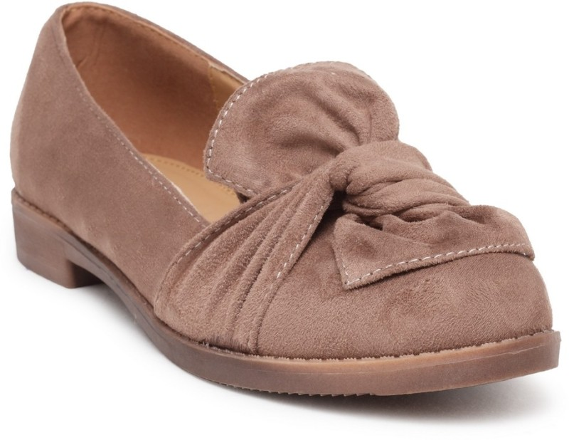 Flat n Heels Loafers For Women(Khaki)