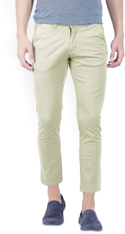 Spykar Regular Fit Mens Beige Trousers