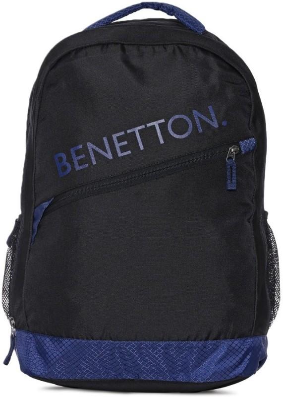 United Colors of Benetton Diagonal Branding 23 L Backpack(Black)