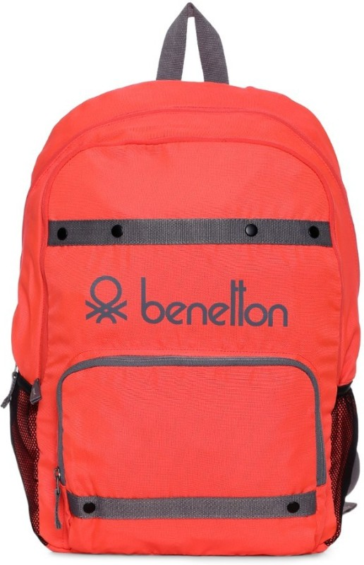 United Colors of Benetton Neon Tape 25 L Backpack(Orange)