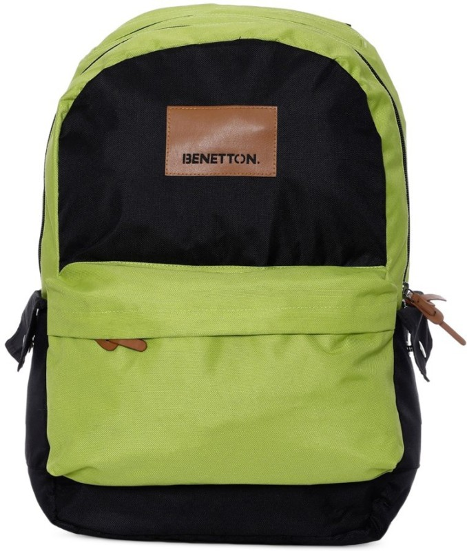 United Colors of Benetton Colorblocked 15 L Backpack(Green)