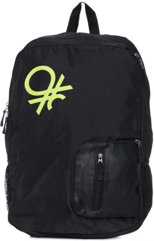 United Colors of Benetton Contrast Pocket 21 L Backpack(Black)