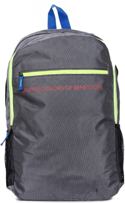 United Colors of Benetton Highlight Zip 21 L Backpack(Grey)