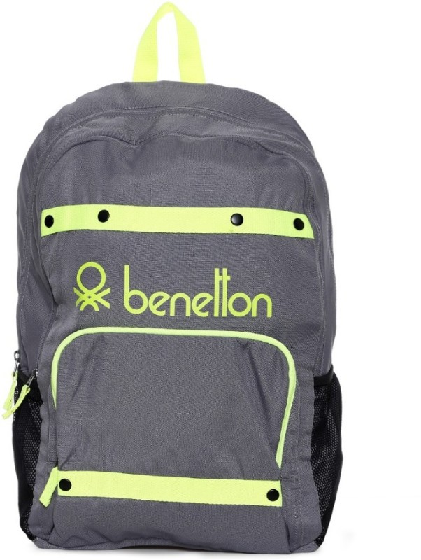 United Colors of Benetton Neon Tape 25 L Backpack(Grey)