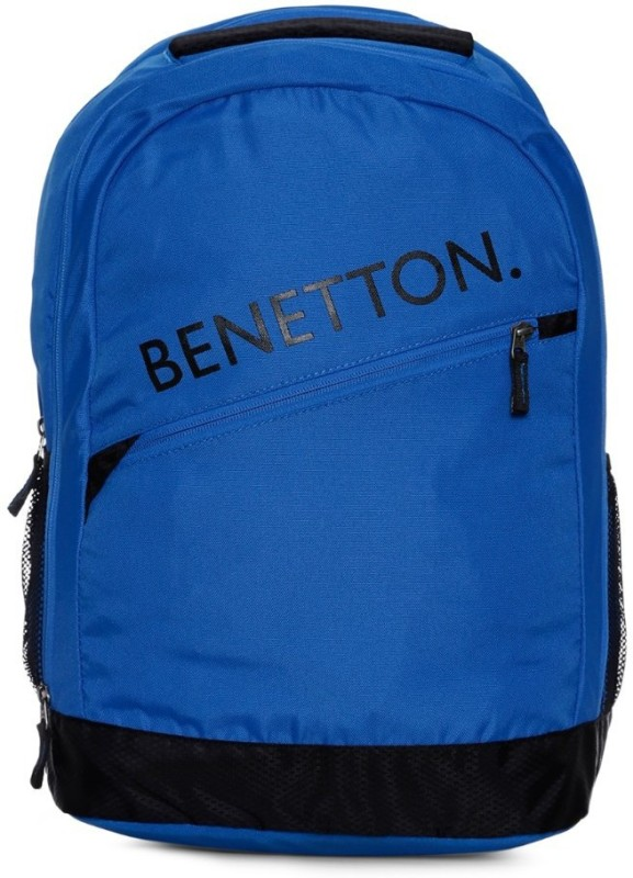 United Colors of Benetton Diagonal Branding 23 L Backpack(Blue)