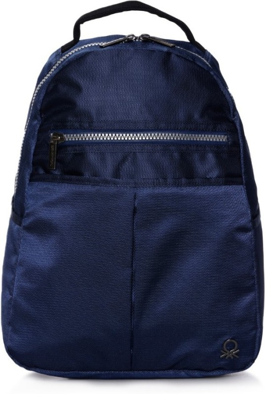 United Colors of Benetton Nylon Office 19 L Backpack(Blue)