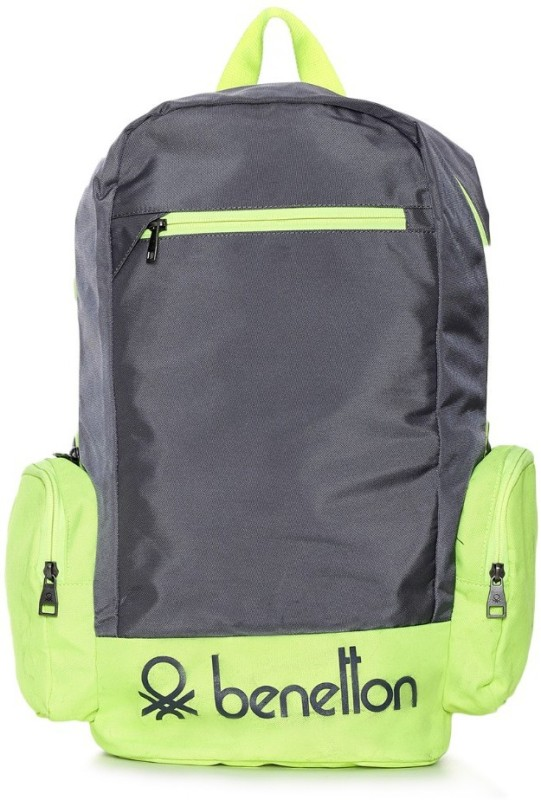 United Colors of Benetton Contrast Side Pocket 22 L Backpack(Grey)