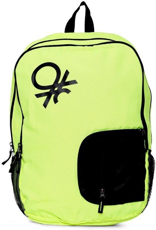 United Colors of Benetton Contrast Pocket 21 L Backpack(Green)