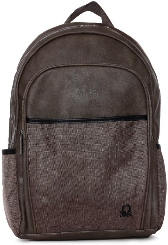 United Colors of Benetton Pu Office 19 L Backpack(Green)