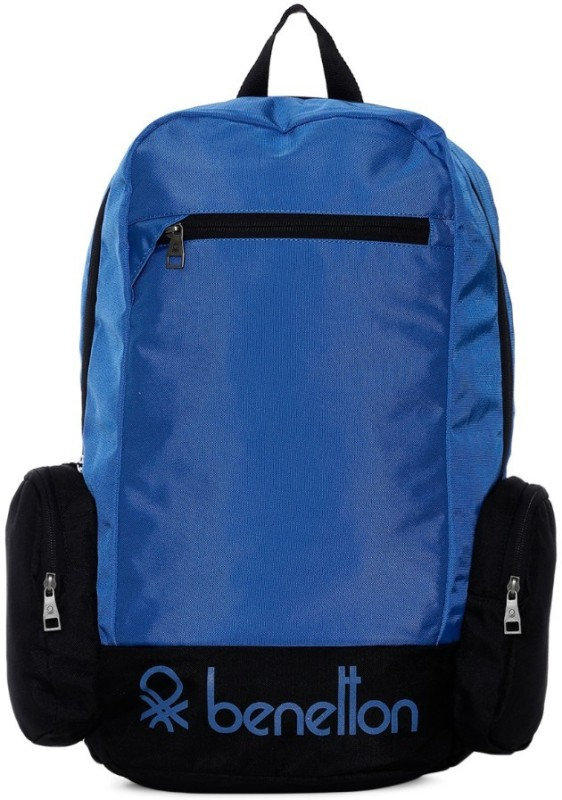United Colors of Benetton Contrast Side Pocket 22 L Backpack(Blue)