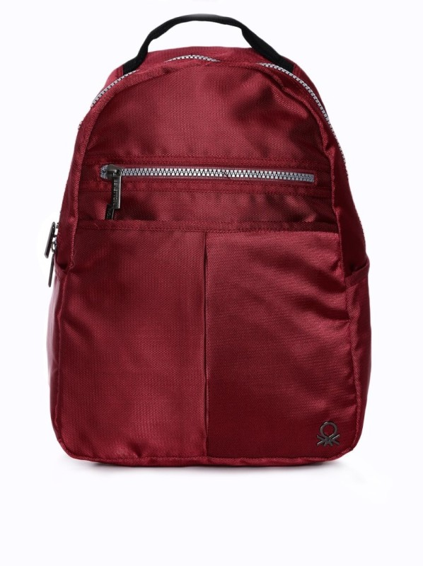United Colors of Benetton Nylon Office 19 L Backpack(Red)