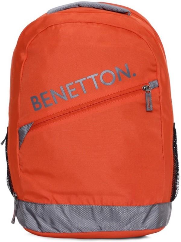 United Colors of Benetton Diagonal Branding 23 L Backpack(Orange)