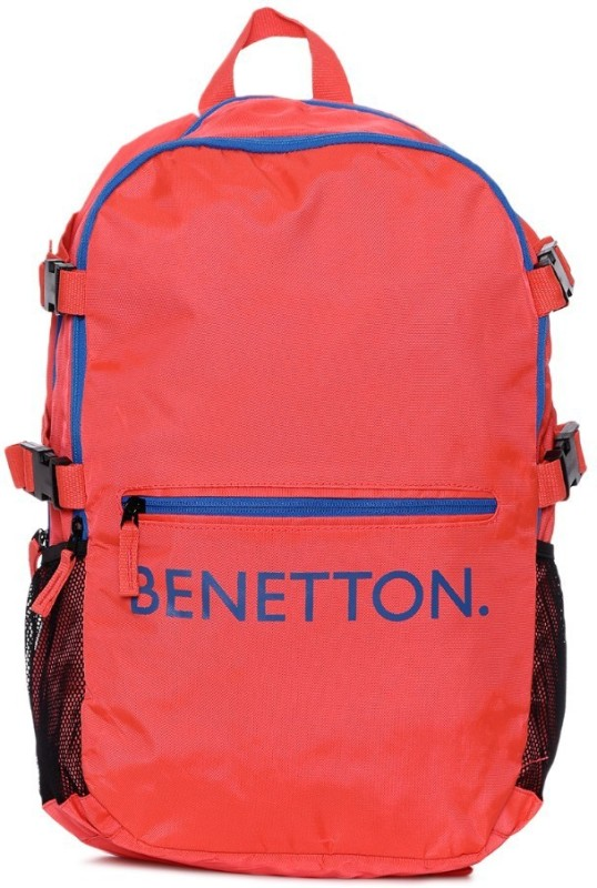 United Colors of Benetton Front Pocket Print 20 L Backpack(Orange)