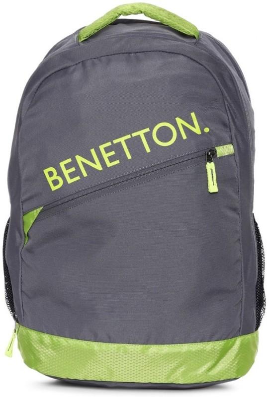 United Colors of Benetton Diagonal Branding 23 L Backpack(Grey)